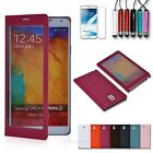 View Flip Skin Full Screen Cover Case For Samsung Galaxy Note 3 III N9005 Stylus
