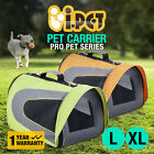 iPET Pet Carrier Dog Cat Soft Crate Cage Portable Kennel Foldable Travel L XL