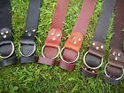 "Handmade Ring Leather Belt Men Women 1 3/4"" 1.75 Inch Wide Black Brown YOUR SIZE"