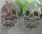 wholesale:Retro style lovely skull alloy bracelet charms Connectors 34x22mm