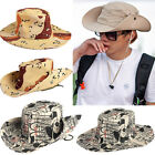 Women Men Summer Sun Camouflage Hunting Fishing Outdoor Bucket Hat Cap Boonie
