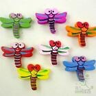 10/50pcs mixed colors dragonfly wood flatback/Beads 25x20MM craft embellishment