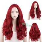 """18""""-28"""" Long Dark Red Curly Wavy Lace Front Synthetic Wig"""