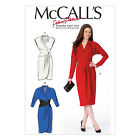 McCall's 6986 Sewing Pattern to MAKE Wrap Style Dress w/ Shaped Hemline