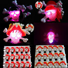 6pcs Flash LED Light Glow Badges Pins Kids Gift Costumes Toy Party Props Supply