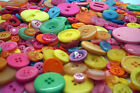 Candy Coloured Craft Buttons mixed size large small Round Bulk Sewing 100g 200g