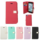 Magnetic Flip PU Leather TPU GEL Card Slot Wallet Purse Case Pouch For iPhone 5C