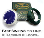 Wickhams FAST SINKING Fly Line +Backing + 3x Leader Loops - Fly Fishing RRP £39