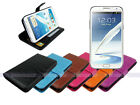 Leather Wallet Case Folding Stand Cover for Samsung Galaxy Note II 2