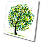Illustration Abstract Tree SINGLE CANVAS WALL ART Picture Print VA