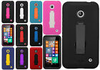 Cricket Nokia Lumia 630 Impact Hard Rubber Kick Stand Case Phone Cover Accessory