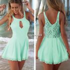 Sexy Women Cut Out Lace Playsuit Party Evening Summer Beach Jumpsuit Shorts N4U8