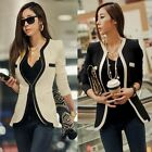 New Fashion Womens Slim Suit Blazer Coat Jacket Outerwear White Black 0 2 4 6 8