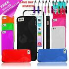 S LINE BUMPER GEL CASE COVER FOR IPHONE 5 5S + SCREEN PROTECTOR + STYLUS PEN