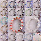 "Free Shipping Mixed Crystal Faceted Beads Stretch Bracelet 7"" 1Pcs LH986-1003"