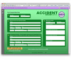 """ACCIDENT RECORD BOOK"" Interactive Log INCL YOUR COMPANY NAME/LOGO Green report"