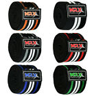 MRX POWER WEIGHTLIFTING KNEE WRAPS GYM TRAINING SUPPORT BANDAGES STRAPS 6 COLORS