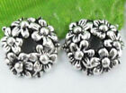 Wholesale 35/75Pcs Tibetan Silver  Bead Caps  Findings  11x4mm(Lead-free)
