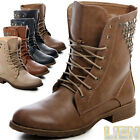 Studs Glitter Boots Lace Up Boots Ankle Boots Lace Up
