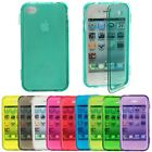 Flip Crystal Transparent Clear TPU Gel Full Case Cover For iPhone 4 4G 4S