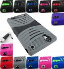 FOR SONY XPERIA T2 ULTRA D5303 EXO STRETCH DUAL LAYER CASE COVER+STYLUS
