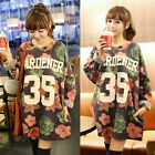 Gorgeous Flower Letter Crew Neck Hip Hop Women's Sweater Jumper Knitwear Outwear