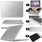 SILVER Frosted Matte Rubberized Hardshell Hard Case Cover For Apple MacBook