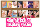 Nail Art Salon Display Poster Decoration Nail Tips Double Side Print Picture
