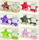 GLITTER STARS X 6 CHRISTMAS TREE BAUBLES DECORATION SHATTERPROOF DECORATIONS