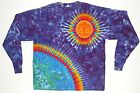 Adult Long Sleeve 5X 6X TIE DYE Earth/Sun T-Shirt Grateful Dead hippie art