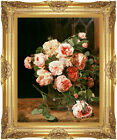 Roses by the Window Ferdinand Georg Waldmuller Painting Repro Framed Art Print