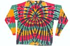 Adult Long Sleeve TIE DYE Rasta Spider T Shirt plus sizes 2X 3X 4X marley 420