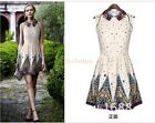 Sweet Lady Prom Party Wear Fresh Spring Doll Collar Neck Mini Skirt Dress D853