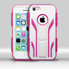 For Apple iPhone 5C IMPACT TUFF HYBRID Extreme Case Skin Cover + Screen Guard