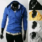 New Fashion Men's Slim Fit Sports Zip Top Designed Hoodies Jackets Coats 5 Color