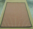 NATURAL STRIPED 100% WOOL AREA RUG 9X12
