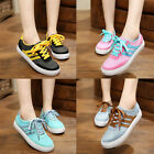 Fashion 4 Candy colors students womens lace-ups round toe sneaker flats NBH