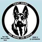 GERMAN SHEPHERD DOG - GSD - PERSONALIZED ALUMINUM LICENSE PLATE or DECAL - #D051