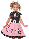 Kids Girls Pink 50s Poodle Skirt Halloween Costume