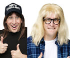 SNL Saturday Night Live Wayne's World Garth Costume Wig Glasses Hat Costume
