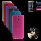 Thin Crystal Clear Soft Gel Silicone Case Cover For HTC One E8 +Protector Stylus