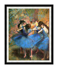 Ballet Dancers in Blue Ballerina by Edgar Degas Print Painting Repro Canvas Art