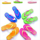 OD New Lady Colorful Pink Dog Summer Slippers Plastic Flat Flip Flops ShoesUKJJL