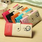 Women Lady Long Fashion PU Leather Wallet Purse Checkbook Coin Bag Handbag Zip