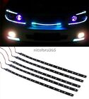 5x15LED 12V 30cm Car Motor Vehicle Flexible Waterproof Strip Light Blue/ White U