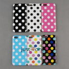 Soft TPU Skin Case Cover Back Protector with Polka Dots f. Apple iPhone 5C NEW
