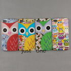 Cute Owl Pattern Fitted Hard Skins Cover Case Back Protector for iPhone 4/ 4S