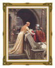 Framed Canvas Print God Speed by Edmund Blair Leighton Art Painting Reproduction