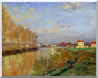 Claude Monet Stretched Canvas Art Seine at Argenteuil Painting Repro Vanilla Sky