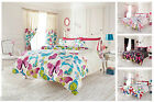 Passion Butterfly Duvet Cover Set With Pillow Cases, Cotton Bed Linen Quilt Sets